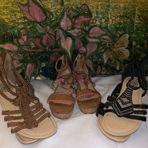 """""""So"""" sandals bundle Barely wore"""